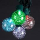 10-Light LED Silver Tinsel Balls Light Set